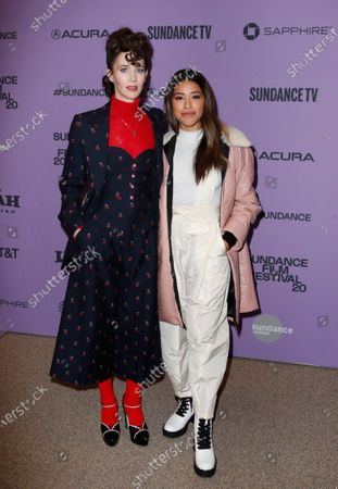 Miranda July (L) and US actress Gina Rodriguez (R) arrive for the premier of the film 'Kajillionaire' at the 2020 Sundance Film Festival in Park City, Utah, USA, 25 January 2020. The festival runs from 22 January to 02 February 2020.
