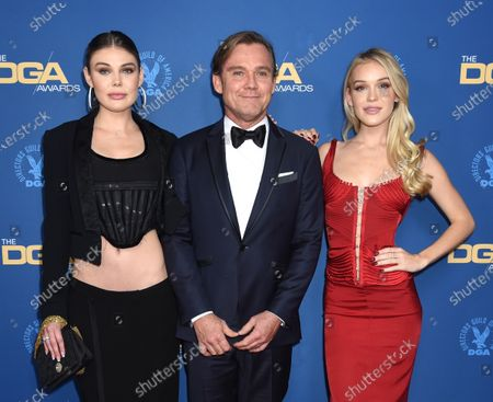 Stock Picture of Cambrie Schroder, Rick Schroder and Faith Schroder
