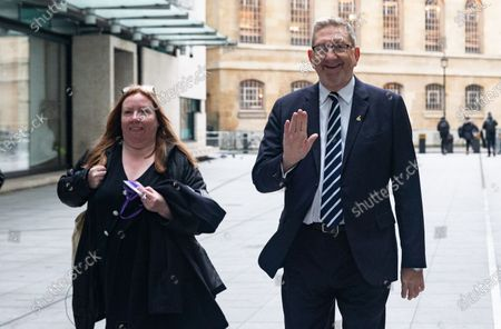 Len McCluskey, Unite General Secretary, arrives for 'The Andrew Marr Show'.