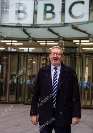 Len McCluskey, Unite General Secretary, leaves after appearing on 'The Andrew Marr Show'.