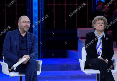 Stock Picture of Paolo Mieli and Dacia Maraini