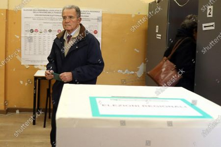 Former Italian prime minister Romano Prodi casts his ballot at a polling station during the regional elections in the Emilia-Romagna Region, in Bologna, Italy, 26 January 2020. Italians head to the polls in regional elections in Emilia Romagna and Calabria.