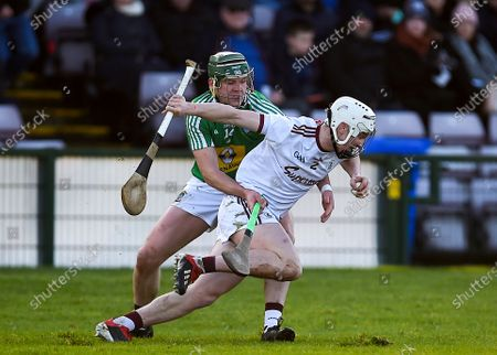 Stock Image of Galway vs Westmeath. Galway's Darren Morrissey with Darragh Clinton of Westmeath