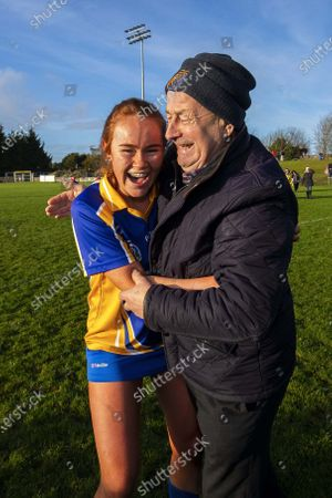 Carnmore vs St. Rynagh's. St. Rynagh's Kate Kenny celebrates after the game
