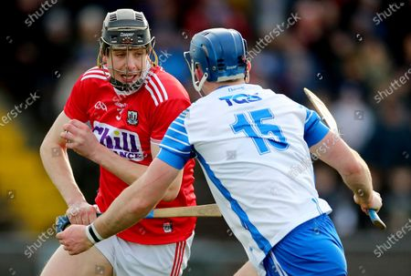 Waterford vs Cork. Cork's Robert Downey and Patrick Curran of Waterford