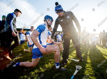 Waterford vs Cork. Waterford's Patrick Curran and manager Liam Cahill after the game