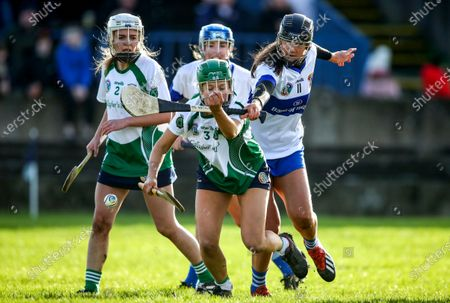 Stock Picture of Sarsfields vs St. Vincent's. Sarsfields Laura Ward and Niamh Heatherton of St. Vincents