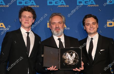 Stock Picture of Sam Mendes, George MacKay, Dean-Charles Chapman
