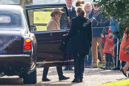 Editorial picture of Queen Elizabeth II attends church service, Sandringham, Norfolk, UK - 26 Jan 2020