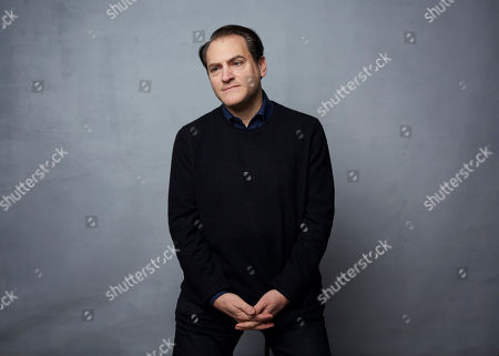 """Stock Photo of Michael Stuhlbarg poses for a portrait to promote the film """"Shirley"""" at the Music Lodge during the Sundance Film Festival, in Park City, Utah"""