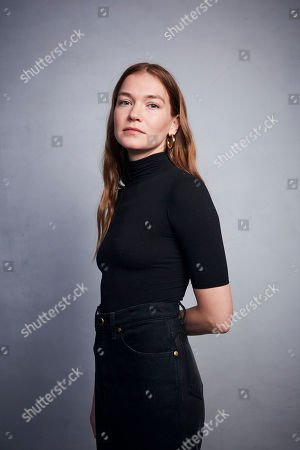 """Hannah Gross poses for a portrait to promote the film """"Falling"""" at the Music Lodge during the Sundance Film Festival, in Park City, Utah"""