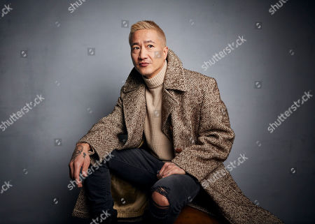 """Stock Photo of Terry Chen poses for a portrait to promote the film """"Falling"""" at the Music Lodge during the Sundance Film Festival, in Park City, Utah"""