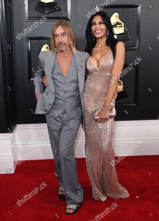 Stock Picture of Iggy Pop, Nina Alu. Iggy Pop, left, and Nina Alu arrive at the 62nd annual Grammy Awards at the Staples Center, in Los Angeles
