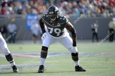 LPGA Diamond Resorts Tournament of Champions. AFC offensive tackle Ronnie Stanley (79), of the Baltimore Ravens, sets up to block during the first half of the NFL Pro Bowl football game against the NFC in Orlando, Fla