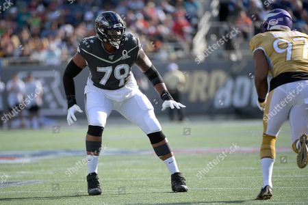 LPGA Diamond Resorts Tournament of Champions. AFC offensive tackle Ronnie Stanley (79), of the Baltimore Ravens, sets up to block in front of NFC defensive end Everson Griffen (97), of the Minnesota Vikings, during the first half of the NFL Pro Bowl football game in Orlando, Fla