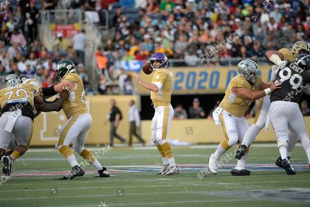 Stock Image of LPGA Diamond Resorts Tournament of Champions. NFC quarterback Kirk Cousins (8), of the Minnesota Vikings, throws a pass during the second half of the NFL Pro Bowl football game against the AFC in Orlando, Fla