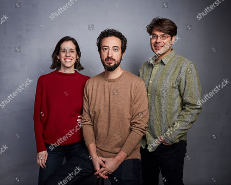 "Elyse Steinberg, Josh Kriegman, Eli Despres. Directors Elyse Steinberg, from left, Josh Kriegman and Eli Despres pose for a portrait to promote the film ""The Fight"" at the Music Lodge during the Sundance Film Festival, in Park City, Utah"