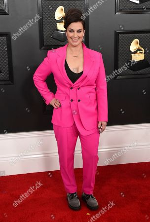 Tracy Young arrives at the 62nd annual Grammy Awards at the Staples Center, in Los Angeles