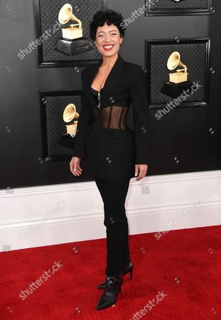 Emily King arrives at the 62nd annual Grammy Awards at the Staples Center, in Los Angeles