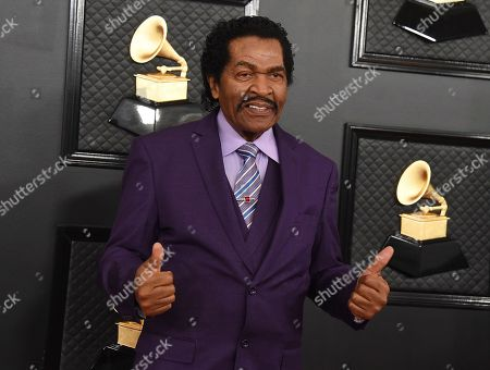 Bobby Rush arrives at the 62nd annual Grammy Awards at the Staples Center, in Los Angeles