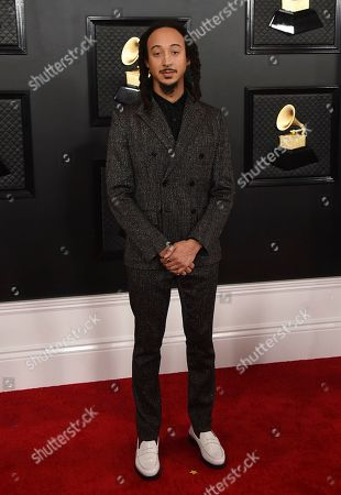 Theo Croker arrives at the 62nd annual Grammy Awards at the Staples Center, in Los Angeles
