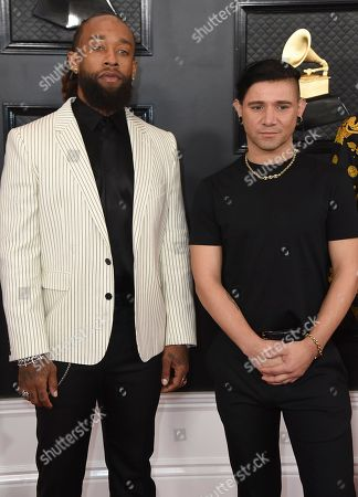 Skrillex, Ty Dolla Sign. Ty Dolla Sign, left, and Skrillex arrive at the 62nd annual Grammy Awards at the Staples Center, in Los Angeles