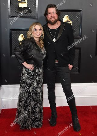 Zach Williams, Crystal Williams. Crystal Williams, left, and Zach Williams arrive at the 62nd annual Grammy Awards at the Staples Center, in Los Angeles
