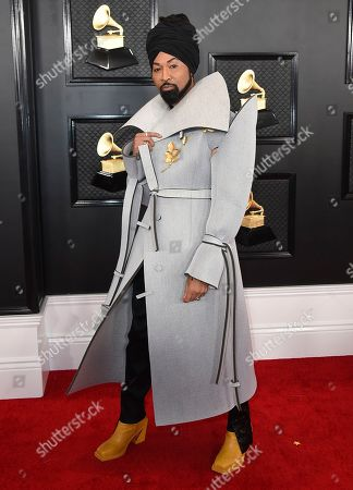 Ty Hunter arrives at the 62nd annual Grammy Awards at the Staples Center, in Los Angeles