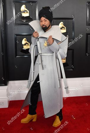 Stock Picture of Ty Hunter arrives at the 62nd annual Grammy Awards at the Staples Center, in Los Angeles