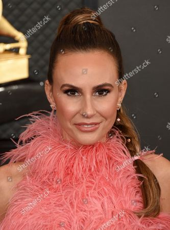 Keltie Knight arrives at the 62nd annual Grammy Awards at the Staples Center, in Los Angeles