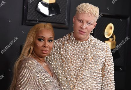 Shaun Ross, Geraldine Ross. Geraldine Ross, left, and Shaun Ross arrive at the 62nd annual Grammy Awards at the Staples Center, in Los Angeles