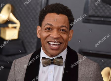Stock Photo of Derrick Baskin arrives at the 62nd annual Grammy Awards at the Staples Center, in Los Angeles