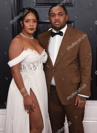 Chanel Dijon, DJ Mustard. Chanel Dijon, left, and DJ Mustard arrive at the 62nd annual Grammy Awards at the Staples Center, in Los Angeles