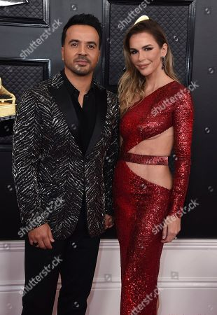 Stock Photo of Luis Fonsi, Agueda Lopez. Luis Fonsi, left, and Agueda Lopez arrive at the 62nd annual Grammy Awards at the Staples Center, in Los Angeles