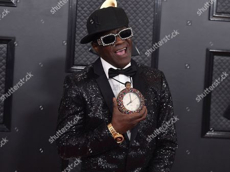 Flavor Flav arrives at the 62nd annual Grammy Awards at the Staples Center, in Los Angeles