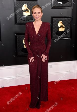 Lauren Zima arrives at the 62nd annual Grammy Awards at the Staples Center, in Los Angeles