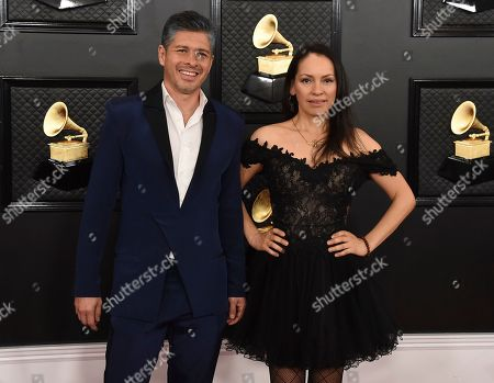 Gabriela Quintero, Rodrigo Sanchez. Rodrigo Sanchez, left, and Gabriela Quintero of Rodrigo y Gabriela arrive at the 62nd annual Grammy Awards at the Staples Center, in Los Angeles
