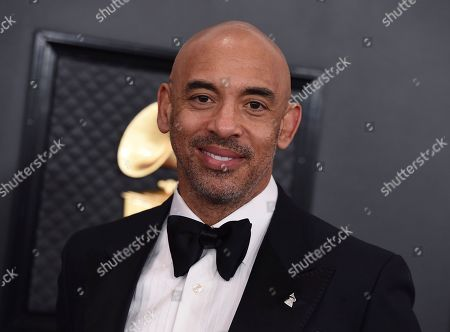 Interim President of The Recording Academy, Harvey Mason Jr..., arrives at the 62nd annual Grammy Awards at the Staples Center, in Los Angeles