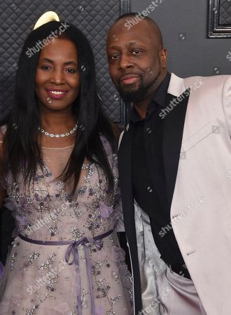 Wyclef Jean, Claudinette Jean. Claudinette Jean, left, and Wyclef Jean arrive at the 62nd annual Grammy Awards at the Staples Center, in Los Angeles