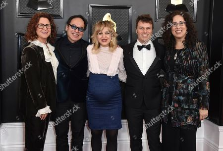 Stock Image of Mara Isaacs, Todd Sickafoose, Anais Mitchell, David Lai, Dale Franzen. Dale Franzen, from left, David Lai, Anais Mitchell, Todd Sickafoose and Mara Isaacs arrive at the 62nd annual Grammy Awards at the Staples Center, in Los Angeles
