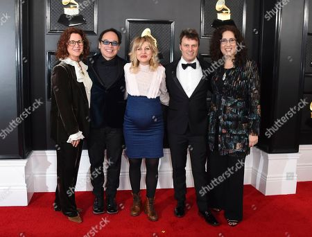 Mara Isaacs, Todd Sickafoose, Anais Mitchell, David Lai, Dale Franzen. Dale Franzen, from left, David Lai, Anais Mitchell, Todd Sickafoose and Mara Isaacs arrive at the 62nd annual Grammy Awards at the Staples Center, in Los Angeles