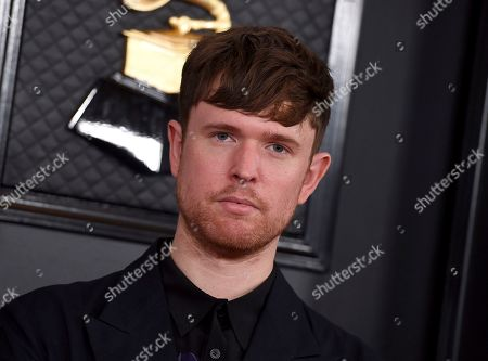 James Blake arrives at the 62nd annual Grammy Awards at the Staples Center, in Los Angeles