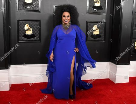 Aymee Nuviola arrives at the 62nd annual Grammy Awards at the Staples Center, in Los Angeles