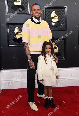 Chris Brown, Royalty Brown. Chris Brown, left, and Royalty Brown arrive at the 62nd annual Grammy Awards at the Staples Center, in Los Angeles
