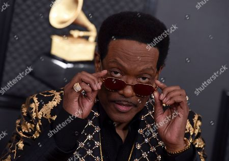 Stock Photo of Charlie Wilson arrives at the 62nd annual Grammy Awards at the Staples Center, in Los Angeles