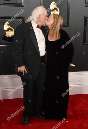 David Crosby, Jan Dance. David Crosby, left, and Jan Dance kiss as they arrive at the 62nd annual Grammy Awards at the Staples Center, in Los Angeles