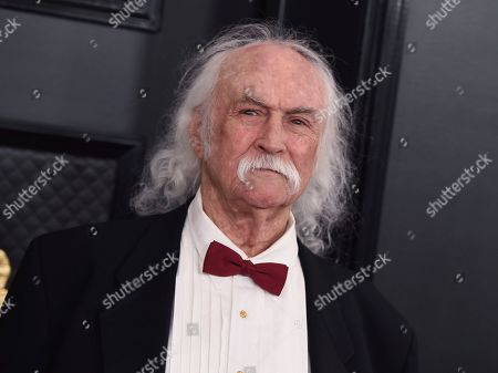David Crosby arrives at the 62nd annual Grammy Awards at the Staples Center, in Los Angeles