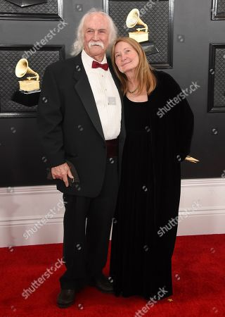 David Crosby, Jan Dance. David Crosby, left, and Jan Dance arrive at the 62nd annual Grammy Awards at the Staples Center, in Los Angeles
