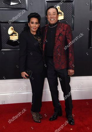 Frances Glandney Robinson, Smokey Robinson. Frances Glandney Robinson, left, and Smokey Robinson arrive at the 62nd annual Grammy Awards at the Staples Center, in Los Angeles