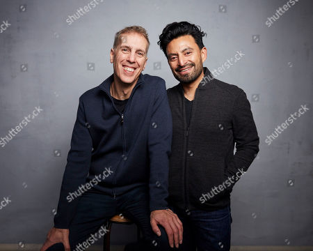"""James D. Stern, Fernando Villena. Directors James D. Stern, left, and Fernando Villena pose for a portrait to promote the film """"Giving Voice"""" at the Music Lodge during the Sundance Film Festival, in Park City, Utah"""